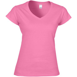 Textiel Dames T-shirts korte mouwen Gildan Soft Style Azalea