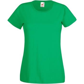 Textiel Dames T-shirts korte mouwen Fruit Of The Loom 61372 Kelly Groen