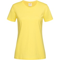Textiel Dames T-shirts korte mouwen Stedman Classics Geel