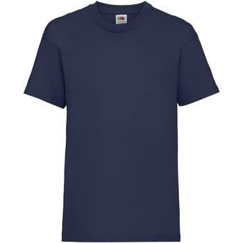 Textiel Kinderen T-shirts korte mouwen Fruit Of The Loom 61033 Marine