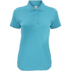 Textiel Dames Polo's korte mouwen B And C Safran Hemelsblauw