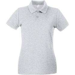 Textiel Dames Polo's korte mouwen Universal Textiles Casual Grijze Mergel