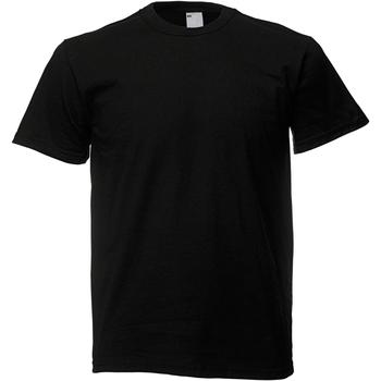 Textiel Heren T-shirts korte mouwen Universal Textiles Casual Jet Zwart