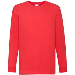 Textiel Kinderen T-shirts met lange mouwen Fruit Of The Loom 61007 Rood