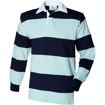 Textiel Heren Polo's lange mouwen Front Row Rugby Eendenei/navy