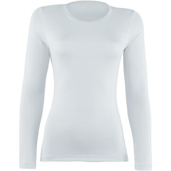Textiel Dames T-shirts met lange mouwen Rhino  Wit