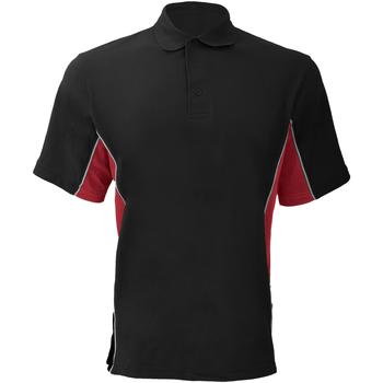 Textiel Heren Polo's korte mouwen Gamegear Pique Zwart/Rood/Wit