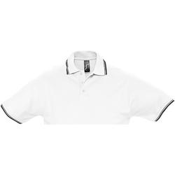 Textiel Heren Polo's korte mouwen Sols Pique Wit/Zwaar