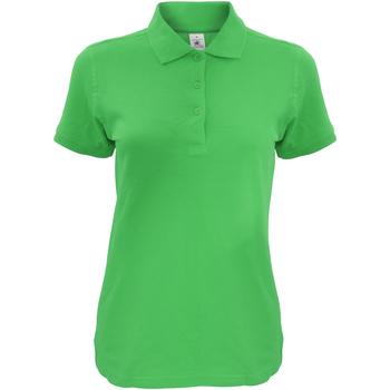 Textiel Dames Polo's korte mouwen B And C Safran Echt groen
