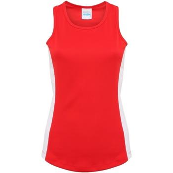 Textiel Dames Mouwloze tops Awdis Girlie Brand Rood/Arctisch Wit