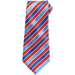 Textiel Heren Krawatte und Accessoires Premier Stripe Koninklijk/Rood