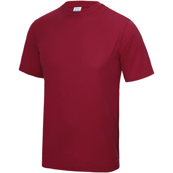 Textiel Heren T-shirts korte mouwen Just Cool Performance Rood