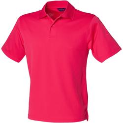 Textiel Heren Polo's korte mouwen Henbury Pique Helder Roze