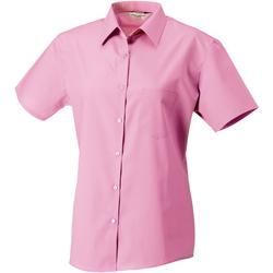 Textiel Dames Overhemden Russell Poplin Helder Roze