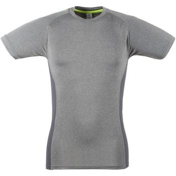 Textiel Heren T-shirts korte mouwen Tombo Teamsport Slim Fit Grijze mergel / Grijs