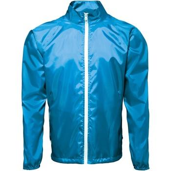 Textiel Heren Windjacken 2786  Saffier/wit