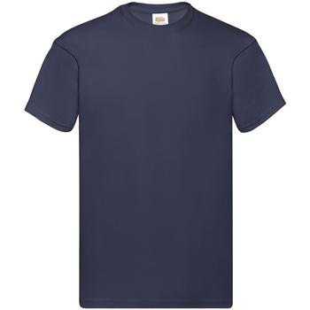 Textiel Heren T-shirts korte mouwen Fruit Of The Loom Original Donker Marine
