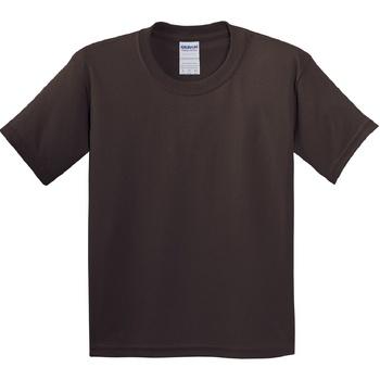 Textiel Kinderen T-shirts korte mouwen Gildan 5000B Donkere chocolade
