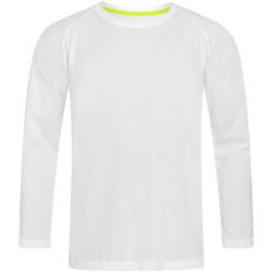 Textiel Heren T-shirts met lange mouwen Stedman Active Wit