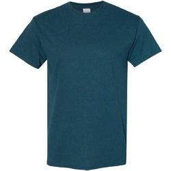 Textiel Heren T-shirts korte mouwen Gildan Heavy Middernacht