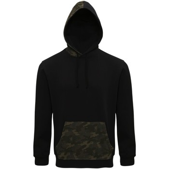 Textiel Heren Sweaters / Sweatshirts Asquith & Fox Camo Zwart/Groen Camo