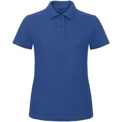Textiel Dames Polo's korte mouwen B And C ID.001 Koningsblauw