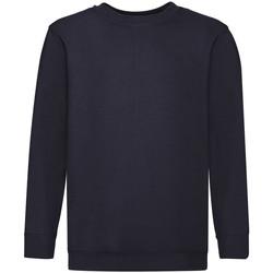 Textiel Kinderen Sweaters / Sweatshirts Fruit Of The Loom 62041 Donker Marine