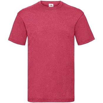 Textiel Heren T-shirts korte mouwen Fruit Of The Loom 61036 Vintage Heather Rood