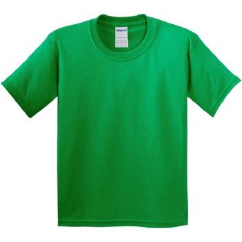 Textiel Kinderen T-shirts korte mouwen Gildan Soft Style Iers Groen