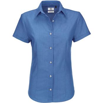 Textiel Dames Overhemden B And C SWO04 Oxford Blauw