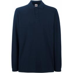 Textiel Heren Polo's lange mouwen Fruit Of The Loom Premium Donker Marine