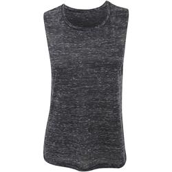 Textiel Dames Mouwloze tops Bella + Canvas Flowy Zwart Marmer