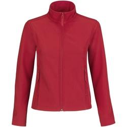 Textiel Dames Fleece B And C Softshell Rood/Grijs