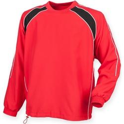 Textiel Heren Trainings jassen Finden & Hales Drill Rood/ Zwart/ Wit