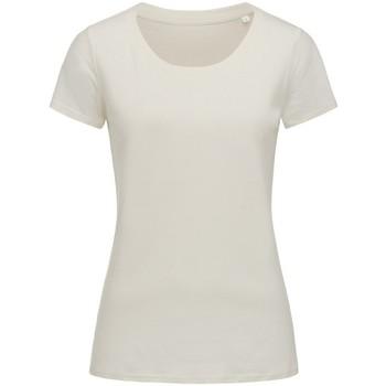 Textiel Dames T-shirts korte mouwen Stedman Stars Organic Winter Wit
