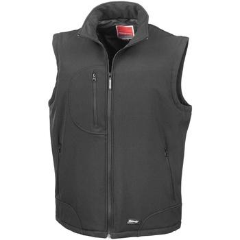 Textiel Heren Vesten / Cardigans Result Softshell Zwart/Zwart