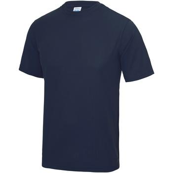 Textiel Heren T-shirts korte mouwen Just Cool Performance Marine Oxford