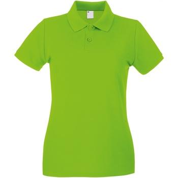 Textiel Dames Polo's korte mouwen Universal Textiles Casual Kalk groen