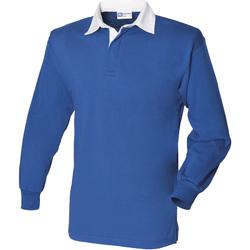 Textiel Heren Polo's lange mouwen Front Row Rugby Koninklijk/Wit