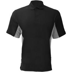 Textiel Heren Polo's korte mouwen Gamegear Pique Zwart/Grijs/Wit