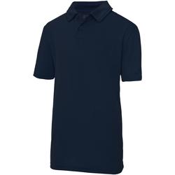Textiel Kinderen Polo's korte mouwen Awdis JC40J Franse marine