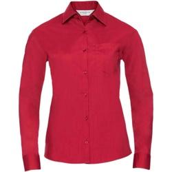 Textiel Dames Overhemden Russell 934F Klassiek rood
