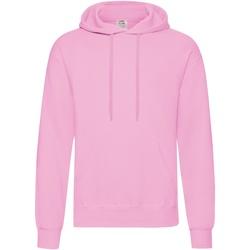 Textiel Heren Sweaters / Sweatshirts Fruit Of The Loom Hooded Licht Roze