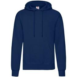 Textiel Heren Sweaters / Sweatshirts Fruit Of The Loom Hooded Donker Marine