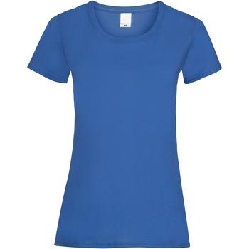 Textiel Dames T-shirts korte mouwen Universal Textiles Casual Kobalt