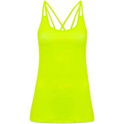 Textiel Dames Mouwloze tops Tridri TR029 Bliksem geel
