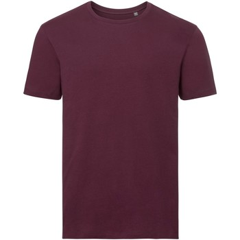 Textiel Heren T-shirts korte mouwen Russell Organic Bourgondië