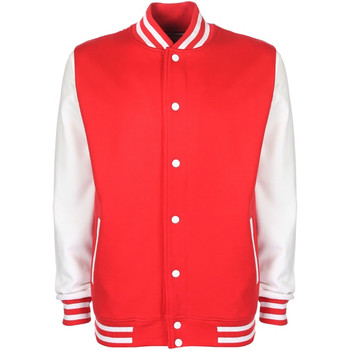 Textiel Heren Wind jackets Fdm Contrast Brand rood/wit