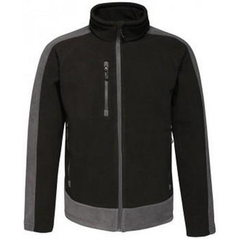 Textiel Heren Fleece Regatta RG423 Zwart/Seal Grey