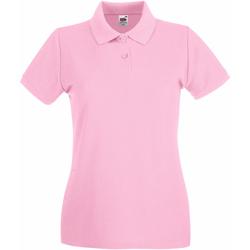 Textiel Dames Polo's korte mouwen Fruit Of The Loom Premium Licht Rose
